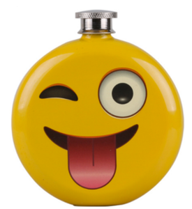 Flask - Winking Emoji - 5oz