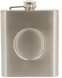 "Flask - 2"" Full Color Insert - 6oz Stainless Steel"