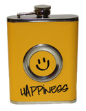 "Flask - ""Happiness"" with Collapsible Shot Glass - 8oz"