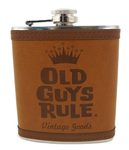 "Flask - ""Old Guys Rule. Vintage Goods"""