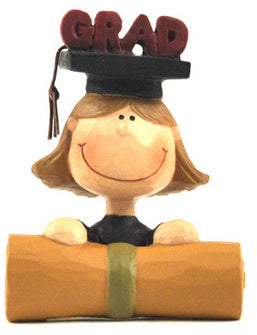 Grad Decor - Girl Hat & Scroll