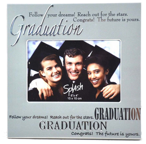 Grad Frame - 4x6 Silver w/Words