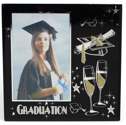 Grad Frame - 4x6 Black Glass