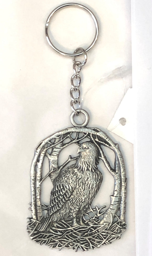 Eagle Keychain - Seagull Pewter