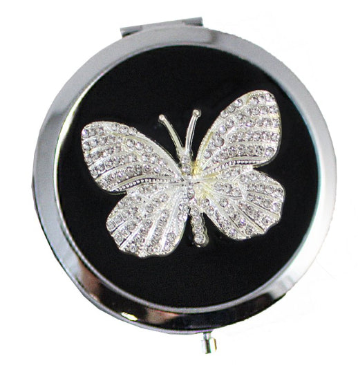 Compact - Black Crystal Butterfly