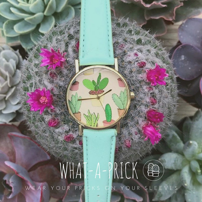 Women's Cactus Watch w/ Faux Leather Band- | What-A-Prick Shop