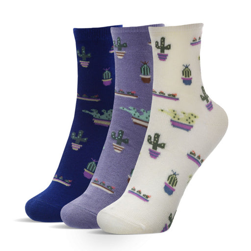 Super Cute Cacti Socks (3-Pack)-1 | What-A-Prick Shop