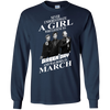 Never underestimate a girl who listens to green day and was born in March shirt, hoodie, tank