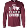 Queens Are Born In September. shirt, hoodie, tank