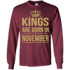 King Are Born In November. shirt, hoodie, tank