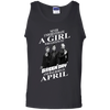 Never underestimate a girl who listens to green day and was born in April shirt, hoodie, tank
