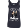Never underestimate a man who listens to  Eminem and was born in February , shirt, hoodie, tank