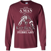 Never underestimate a man who listens to kid rock and was born in February shirt, hoodie, tank