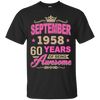 September 1958 60 years of being Awesome shirt, hoodie, tank
