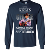 Never underestimate a man who listen to george strait and was born in September  shirt, hoodie, tank