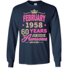February 1958 60 years of being Awesome shirt, hoodie, tank