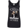 Never underestimate a man who listens to  Eminem and was born in October , shirt, hoodie, tank
