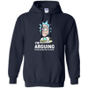 Rick And Morty : I'm not arguing i'm explaining why i'm right shirt, hoodie, tank