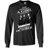 Never underestimate a girl who listens to green day and was born in October shirt, hoodie, tank