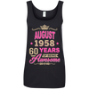 August 1958 60 years of being Awesome shirt, hoodie, tank