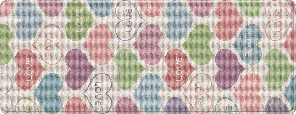 Buy One, Get One Free LG Hausys Kitchen Mat - Hearts