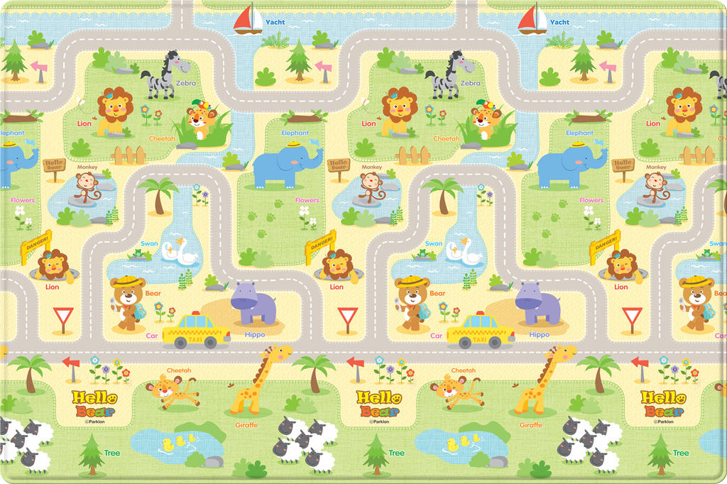 Baby Soft Play Mat - Hello Bear Smiletown