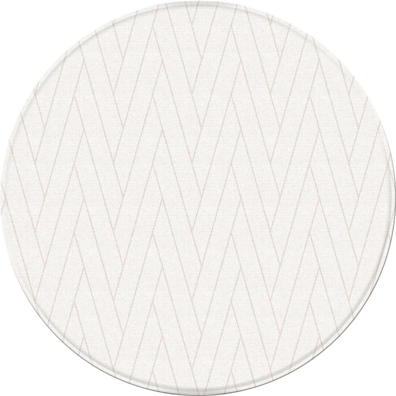*NEW* Pure Soft Round Mat - Double Herringbone/Macaroon