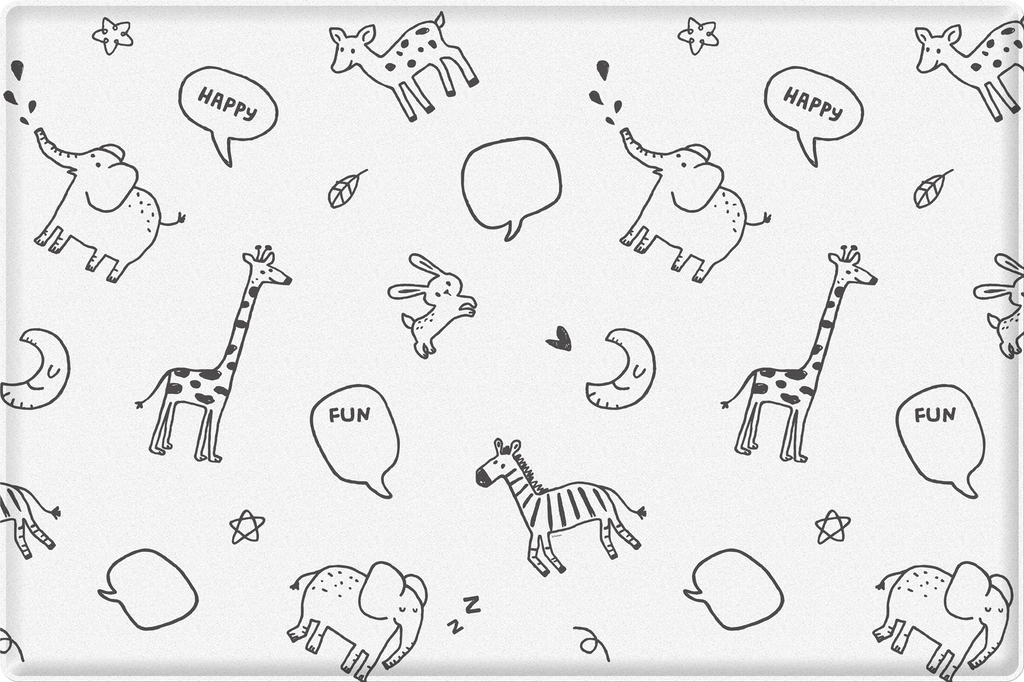 Baby Soft Play Mat - Animal Talk