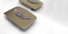 belt buckle bespoke logo heraldry charge