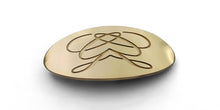 Oval Personalized Brushed Brass Belt Buckle