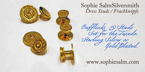 Dress studs for dress shirt by SophieSalm Frackknöpfe Jagdgeschenk