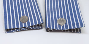 Handmade retro 2 Groschen Cufflinks made from Sterling Silver. - SophieSalm