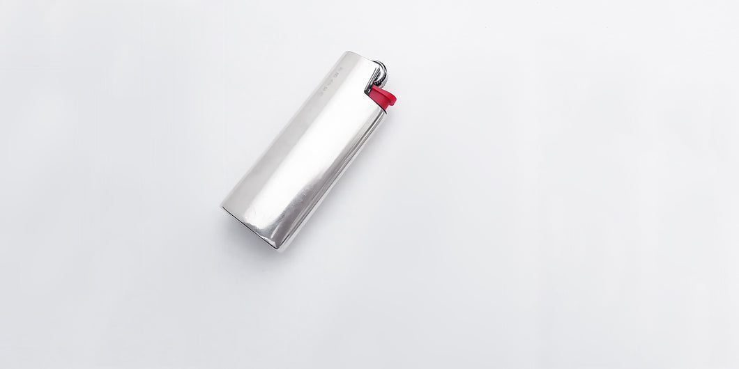 Small Bic silver lighter cover