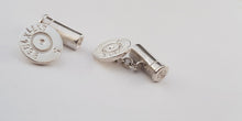 Personalized Cartridge Cufflinks with Initials and Date - SophieSalm