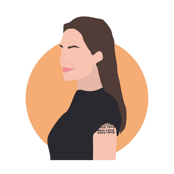 Angelina Jolie icon image. Pop culture. Minimal art. T-shirt, tote bag, poster and more. Gifts for fans of Angelina Jolie.