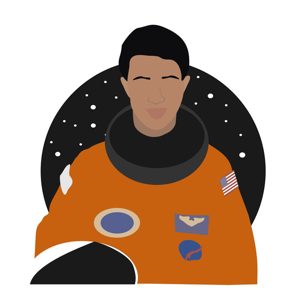 Mae C Jemison icon image. Pop culture. Minimal art. T-shirt, tote bag, poster and more. Gifts for fans of Mae C Jemison. NASA gifts, presents and clothing.
