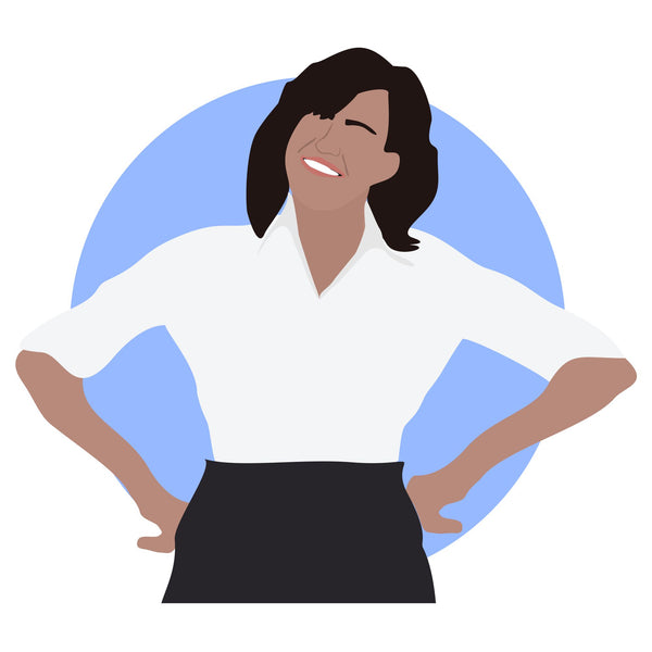 Michelle Obama icon image. Pop culture. Minimal art. T-shirt, tote bag, poster and more. Gifts for fans of Michelle Obama, democrat. Democratic party support.