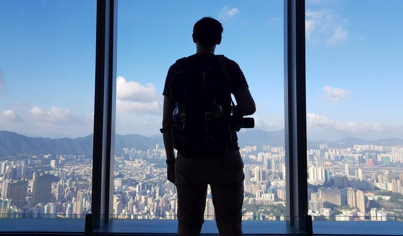 Inside Sky100 Observation Deck, Hong Kong