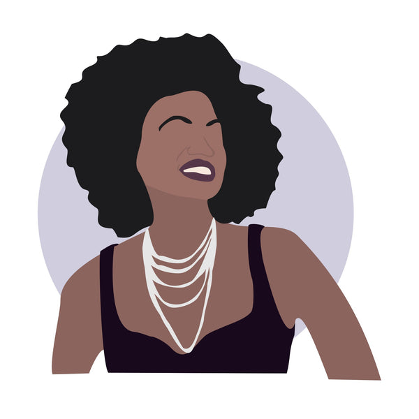 Violan Davis icon image. Pop culture. Minimal art. T-shirt, tote bag, poster and more. Gifts for fans of Viola Davis.