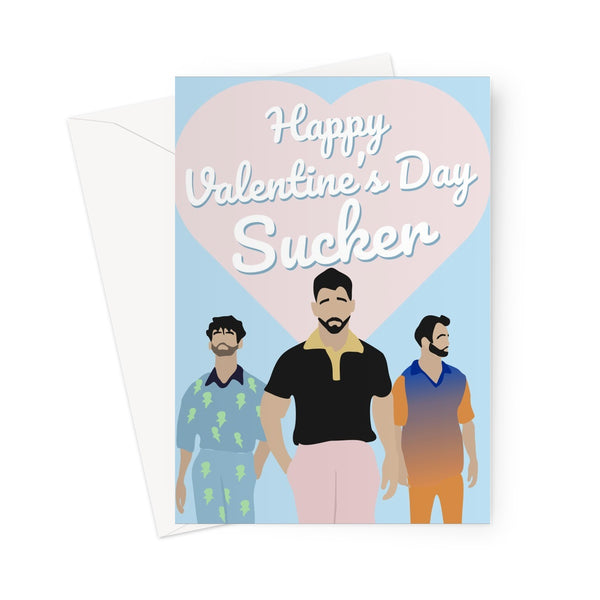 Happy Valentine's Day Sucker Jonas Brothers Funny Fan Love Greeting Card