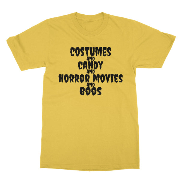 Halloween Apparel - Costumes and Candy and Horror Movies and Boos Softstyle T-Shirt