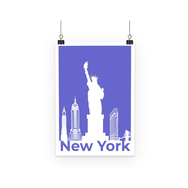Travel Collection Homeware- New York City Minimal Print Poster