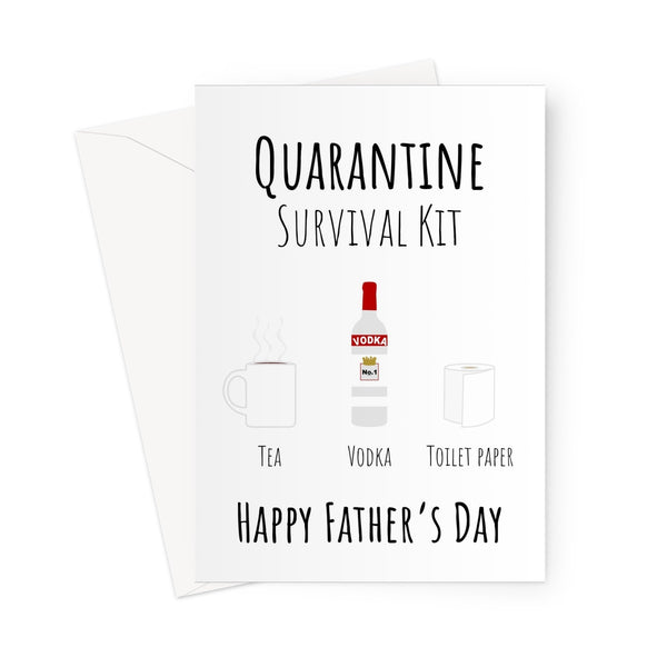 Quarantine Sruvival Kit Tea Father's Day Custom Greeting Card