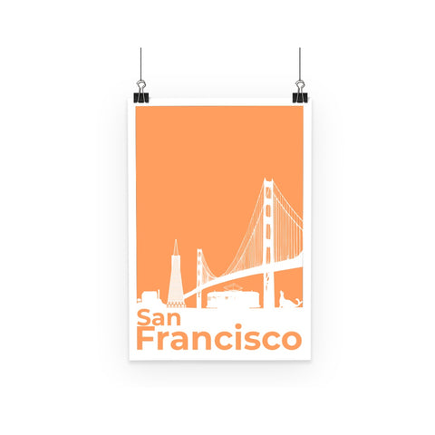 Travel Collection Homeware - San Francisco Minimal Poster