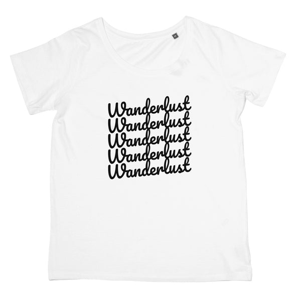 Wanderlust T-Shirt - Ladies Travel Fashion, Women's Fit Clothing