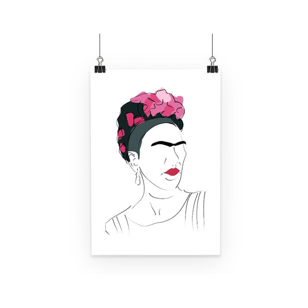 Cultural Icon Poster - Frida Kahlo (Hand Drawn Style)