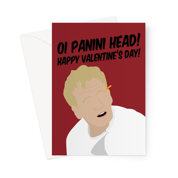 Oi Panini Head Happy Valentine's Day Gordon Ramsay Greeting Card