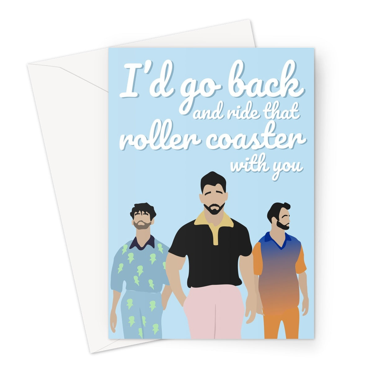 Jonas Sucker Roller Coaster Custom Greeting Card