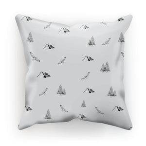 Travel Collection Homeware - Outdoor Adventure Cushion (Mountains, Birds, Trees)