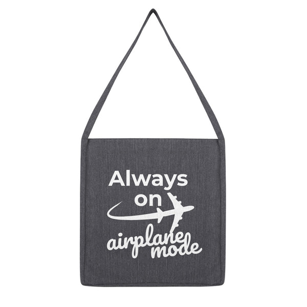 Always On Airplane Mode Recycled Tote Bag (Travel Collection)